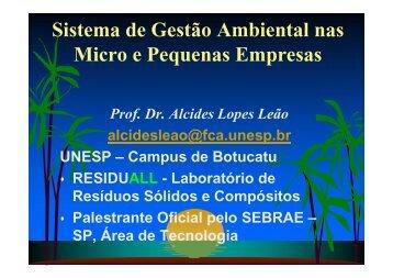 Sistema de Gestão Ambiental nas Micro e Pequenas ... - Sebrae
