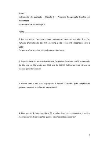 1 Anexo 1 Instrumento de avaliação – Módulo 1 – Programa ...