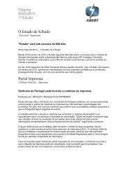 O Estado de S.Paulo Portal Imprensa - Abert