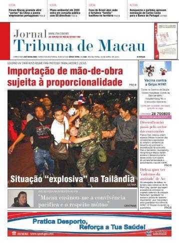 Entrevista ao Jornal Tribuna de Macau - Avelino Rosa