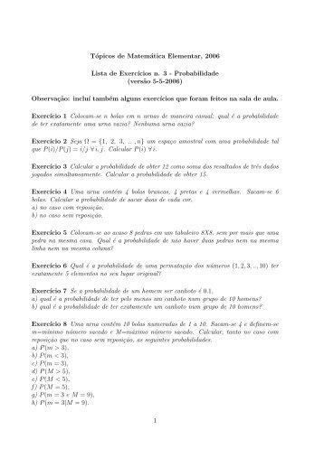 Probabilidade - ICMC