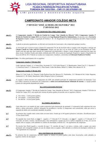 campeonato regional de futebol de campo amador - Liga Regional ...