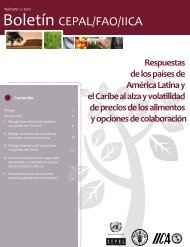 Boletín CEPAL/FAO/IICA - Oficina Regional de la FAO para América ...