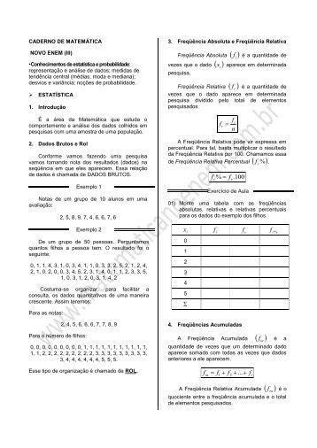 novo enem III.pdf - Matemática no ENEM