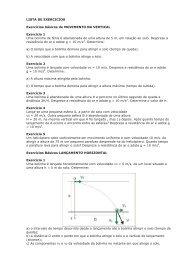 LISTA DE EXERCICIOS Exercícios básicos de MOVIMENTO NA ...
