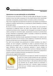 Lipossomas e as suas aplicações na actualidade - Universidade de ...