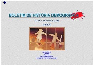 XVI Encontro Nacional de Estudos Populacionais da ABEP -- 2008