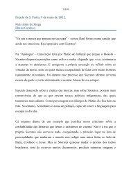 """""""Mais além do Xingu"""". Estado de S.Paulo - Eliana Cardoso"""