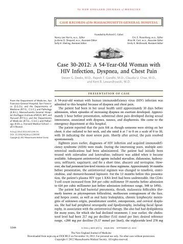 A 54-Year-Old Woman with HIV Infection, Dyspnea, and ... - Proac