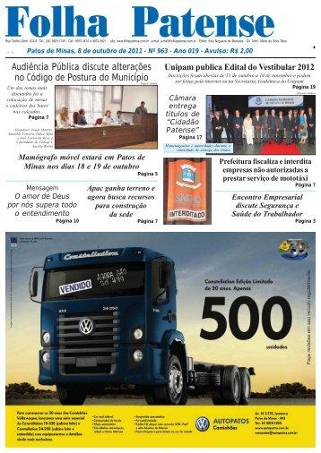 Folha Patense 08/10/2011(nº 963