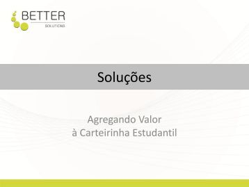 download da apresentação - Carteirinhas Estudantis, Crachás de ...