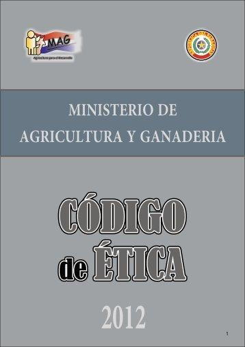 MECIP-COD DE ETICA2012.cdr - Ministerio de Agricultura y ...