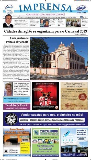 Cidades da região se organizam para o Carnaval ... - Jornal Imprensa