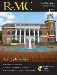 Spring 2012 Edition - Randolph-Macon College