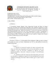 CONSELHO MUNICIPAL DE EDUCAÇÃO PARECER CME nº 02/12 ...