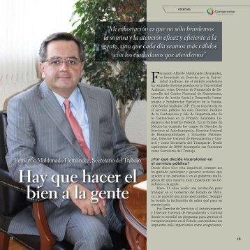 Fernando Maldonado Hernández, Secretario del Trabajo