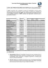 LISTA DE PRESTADORES DE SERVIÇO (Acessibilidade) - Abert