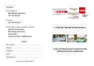 « L'art de l'accueil et du service » - Hotel & Gastro Union