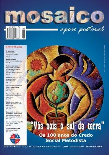Mosaico Apoio Pastoral - Ano 16 - número 41