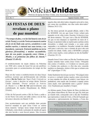 Agosto-Outubro 2006 - A Boa Nova - Uma revista de entendimento