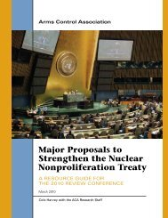 Major Proposals to Strengthen the Nuclear Nonproliferation Treaty
