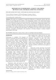 Differences in Depression, Anxiety, and Stress between Low - JSSM ...