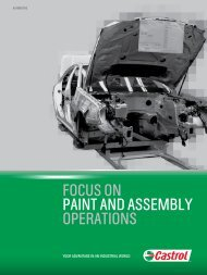 Focus on Paint and Assembly Operations - Castrol