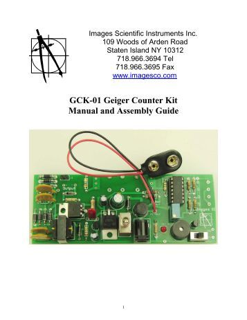 GCK-01 Geiger Counter Kit Manual and Assembly Guide