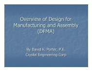 Overview of Design for Manufacturing and Assembly (DFMA)