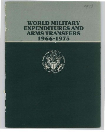 world military expenditures and arms transfers 1966-1975