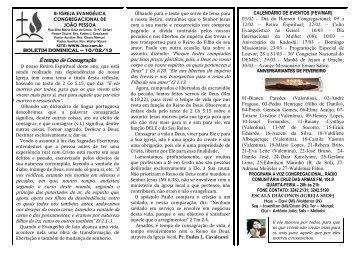 10/2/2013 - iii igreja evangélica congregacional de joão pessoa