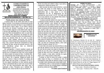 03/06/2012 - iii igreja evangélica congregacional de joão pessoa