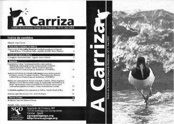 índice de contidos - Sociedade Galega de Ornitoloxía