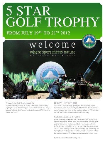 5 Star Golf trophy - Hotel Monte Rosa