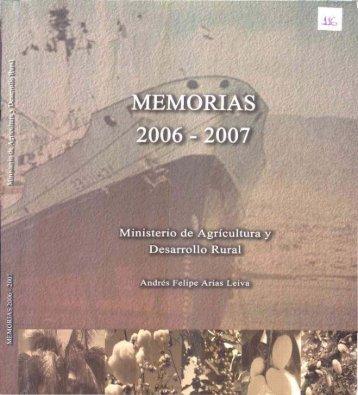 memorias 2006 - 2007