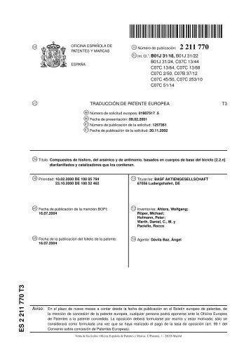 Es 2 286 233 t3 oficina espa ola de patentes y marcas for Oficina patentes y marcas