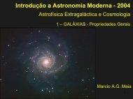 Módulo 1 - Galáxias: Propriedades Gerais