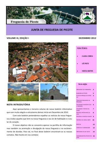 Boletim Informativo da Freguesia - Freguesia de Picote