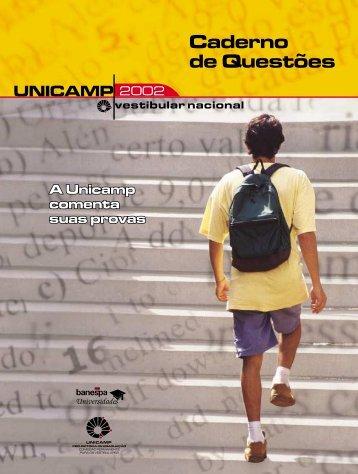 Caderno de Questões - Comvest - Unicamp
