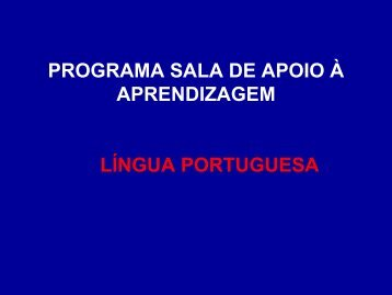 programa sala de apoio à aprendizagem língua portuguesa - NRE
