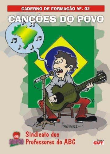 caderno de formação nº. 02 - canções do povo - Sinpro ABC
