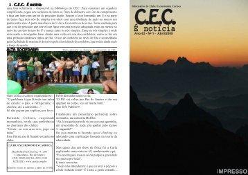No 1 - Abril / 2009 - Clube Excursionista Carioca
