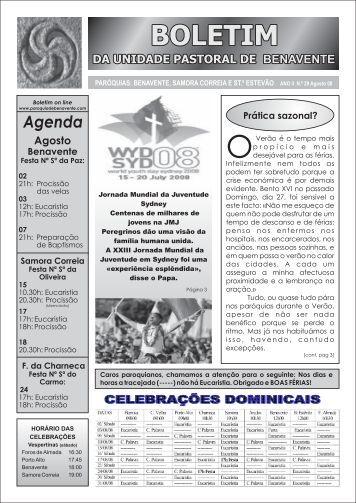 Boletim Agosto 08 - Unidade Pastoral de BENAVENTE