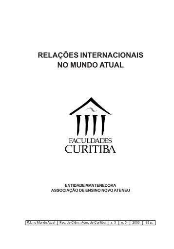 RELAÇÕES INTERNACIONAIS NO MUNDO ATUAL - Unicuritiba