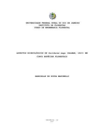 Aspectos bioecológicos de Oncideres saga - Instituto de florestas ...