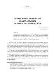 Cerâmica medieval das escavações no Castelo de Arouca : ensaio ...
