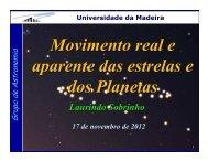 Movimento real e aparente das estrelas e dos Planetas