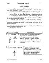 Sequência de exercícios - Yoga Clássico