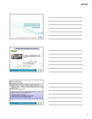 (Microsoft PowerPoint - Aula 5 Extrus\343o [Modo de ... - IMA