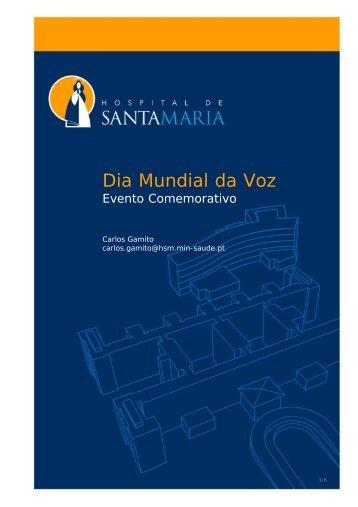 Dia Mundial da Voz - Hospital de Santa Maria